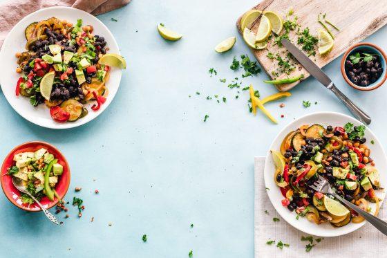 Chicken, broccoli & beetroot salad with avocado pesto